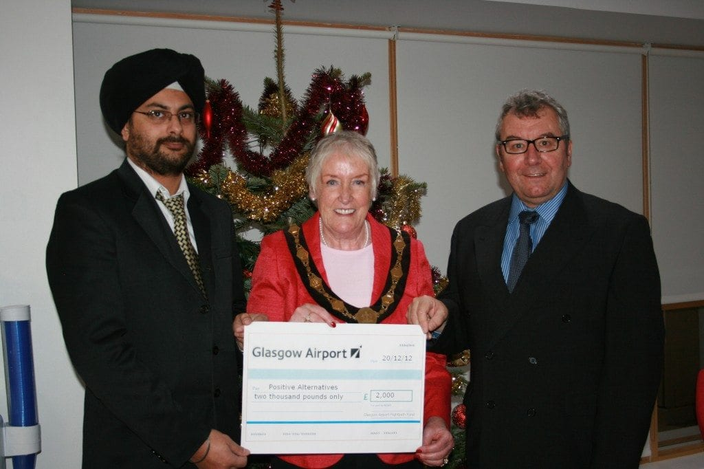 Positive Alternatives cheque