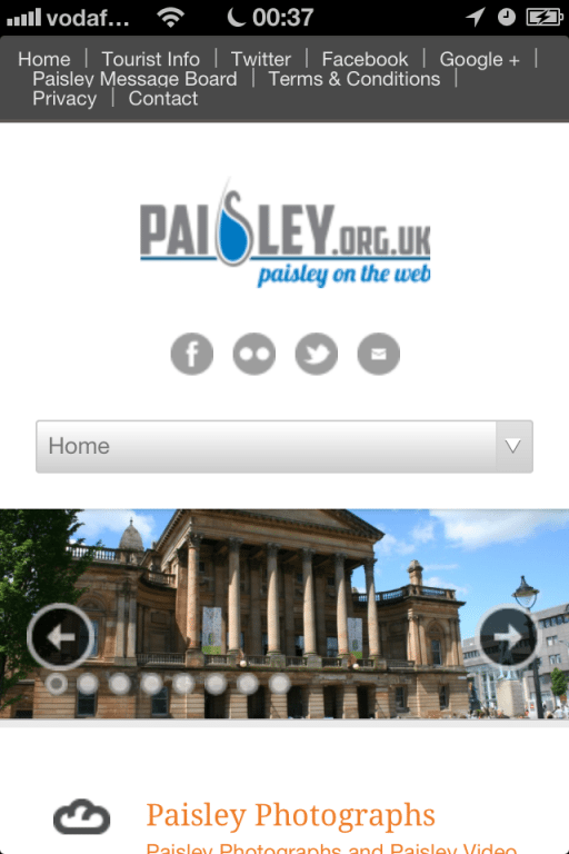 Paisley mobile website