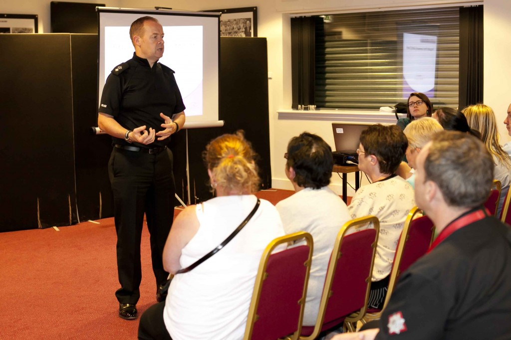 Pic from event shows Divisional Commander Alan Speirs. Pic credit: Roy McKeag.