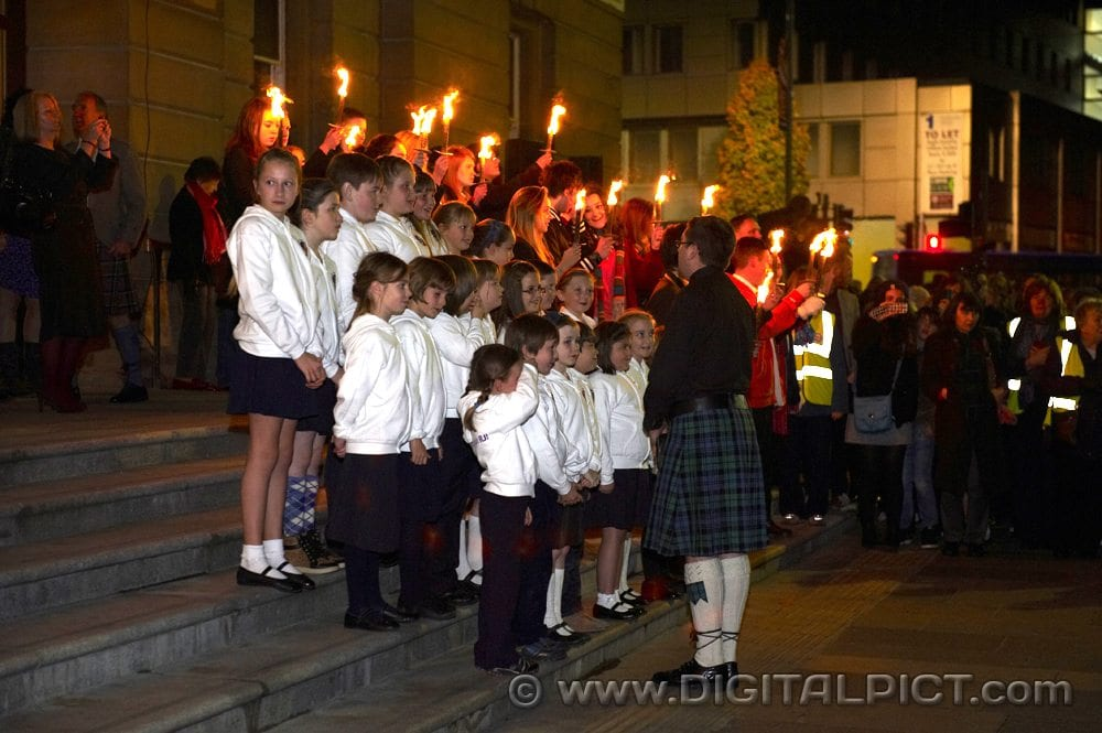 Royal National Mòd torchlight parade