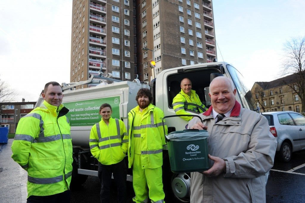 Cllr Devine with recycling collection team