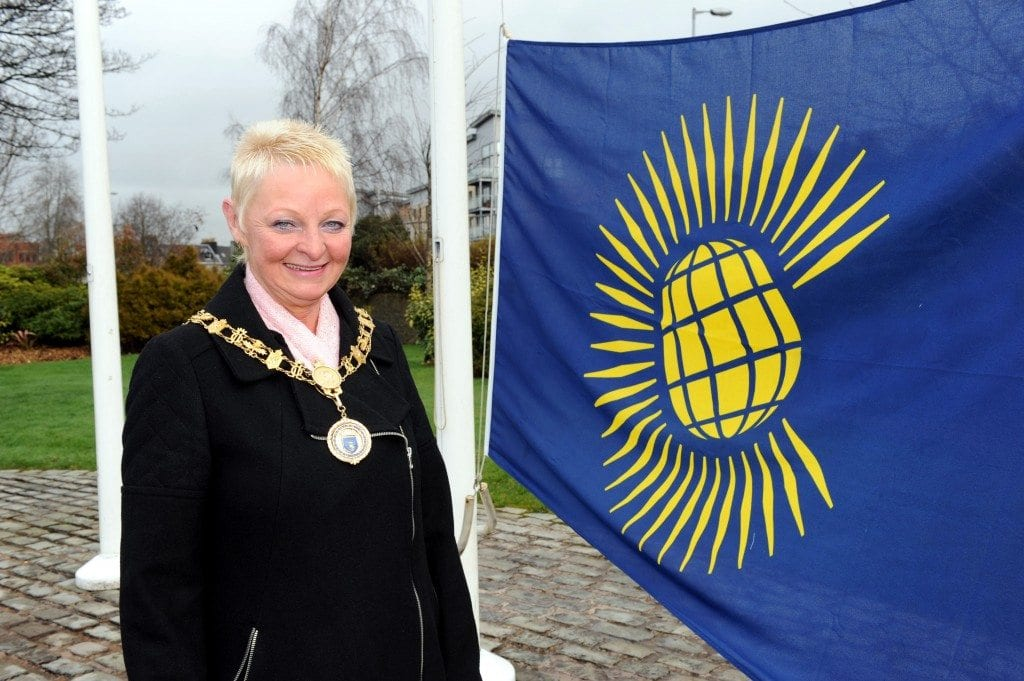 Provost raises Commonwealth Flag outside Renfrewshire House