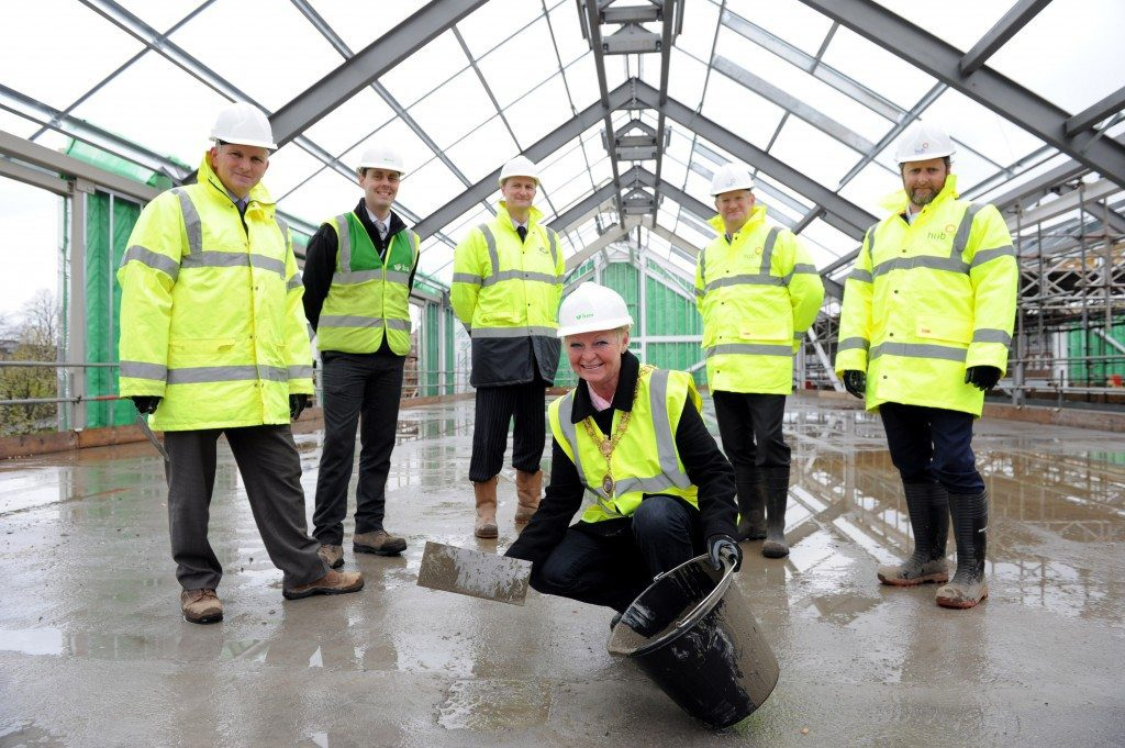 johnstone town hall topping out