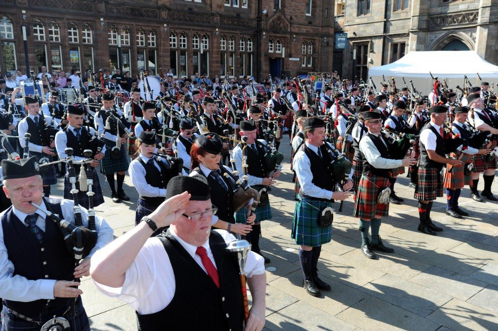 Paisley Pipe Band competition
