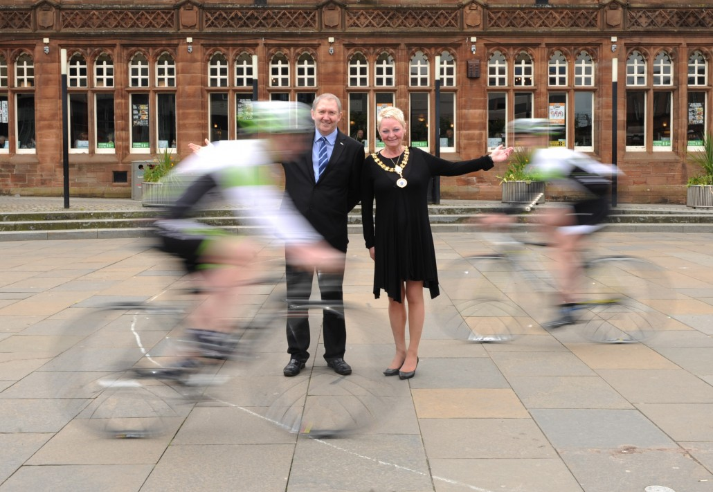 Provost Hall and Cllr Harte - StreetVelodrome