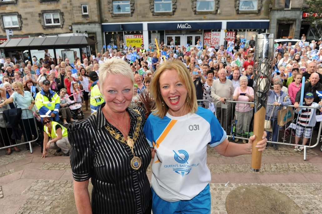 Provost Anne Hall with Clare Grogan