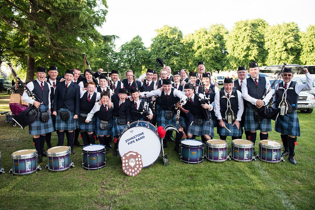Grade 4 Band celebrating after being crowned European Champions