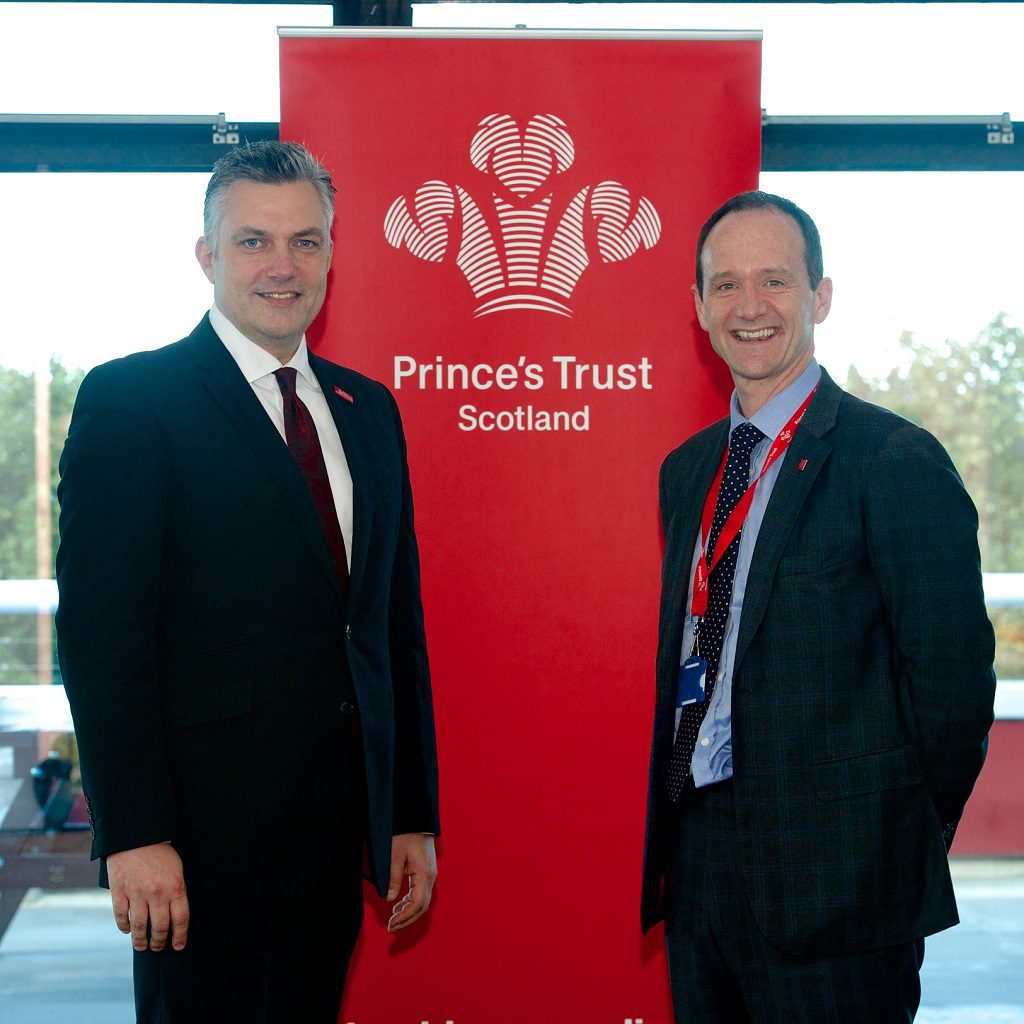 Councillor Mark Macmillan and Allan Watt, Director, Prince's Trust Scotland