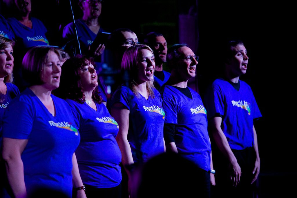 RockUs Community Choir perform in Paisley Abbey as part of the Spree Sessions initiative