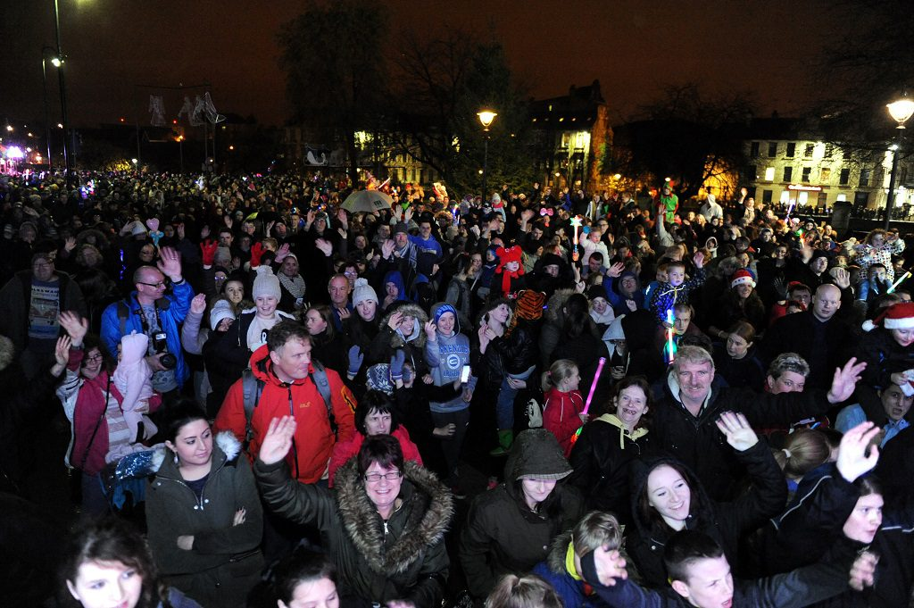 crowd shot from the 2014 Christmas Lights Switch-on