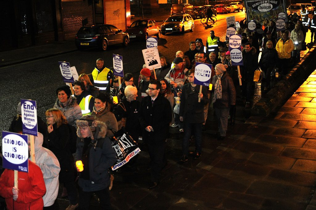 Campaigners march to 'Reclaim the Night'