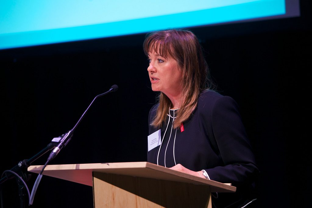 Renfrewshire Council chief executive Sandra Black addresses delegates