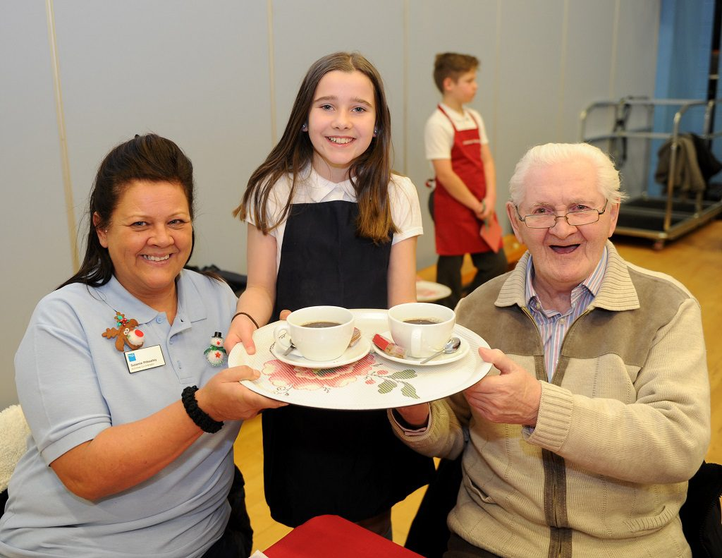 Todholm Cafe Todholm Primary School Paisley Grace Collins (11) with Suzanne Pitkeathly and Robert MacAdam