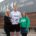 Count on us to raise charity cash – from left, Joyce McKellar, chief executive of Renfrewshire Leisure; Ritchie Hocking and Macmillan Cancer Support fundraising manager for Renfrewshire, Laura Stockwell