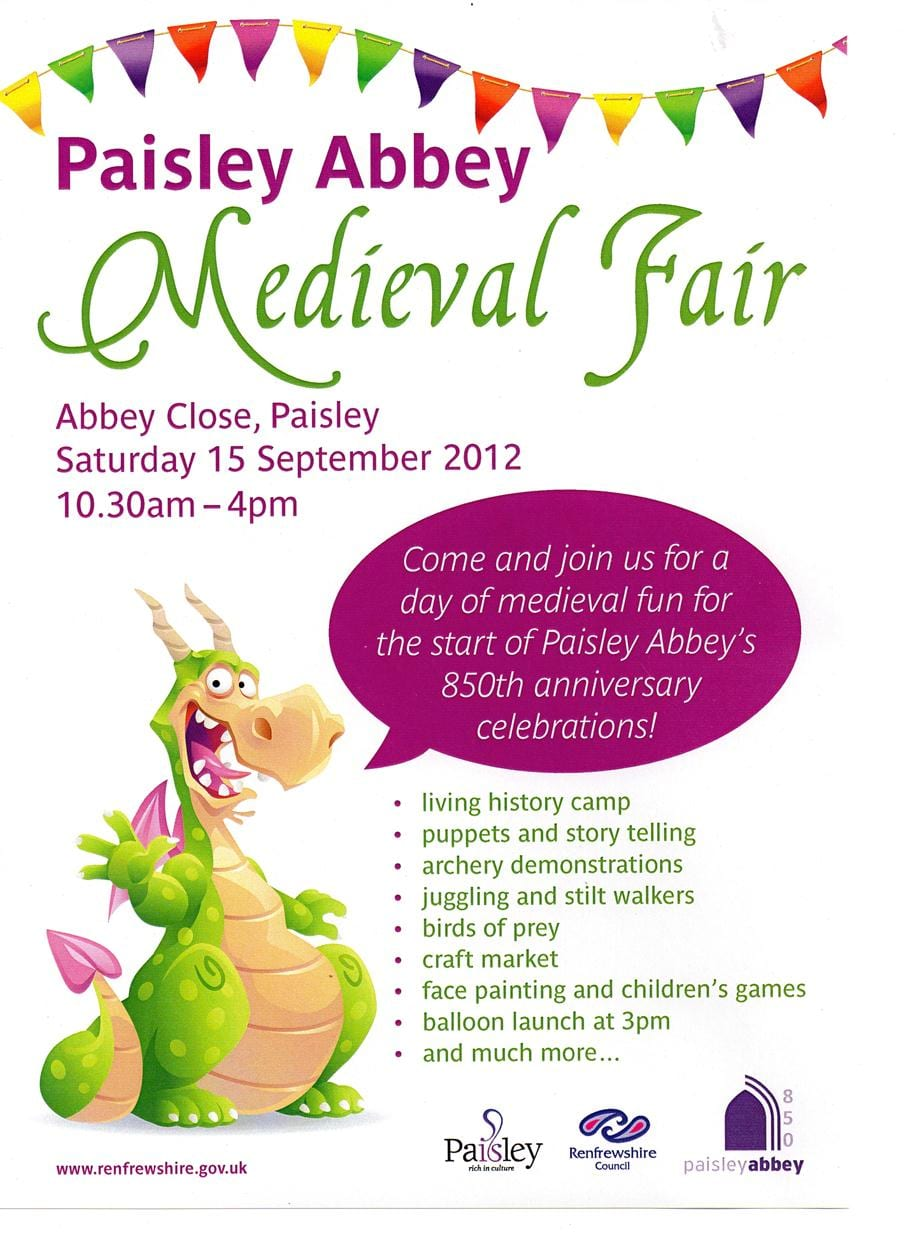 Paisley Abbey Medieval Fair