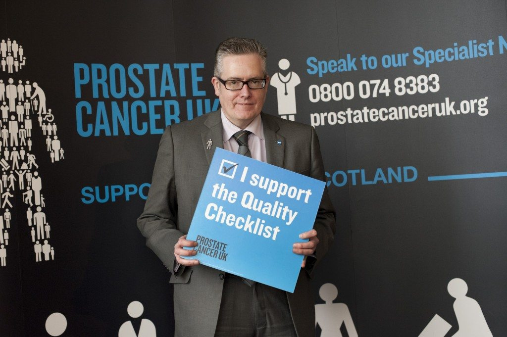 28.3.2013. Scottish Parliament. MSPs show their support for Prostate Cancer UK.