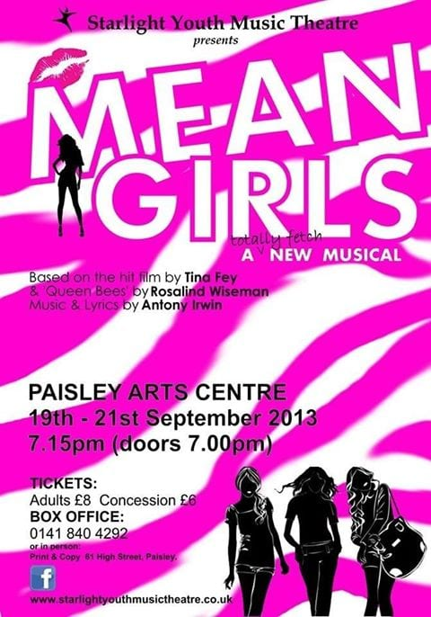 Mean Girls Musical at Paisley Arts Centre