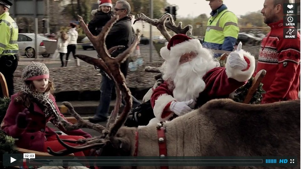 Paisley Christmas Lights Switch-On Video 2013