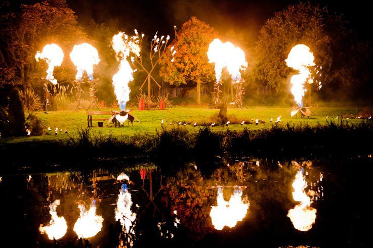 The Fire Garden, created by Walk the Plank. Image Walk the Plank