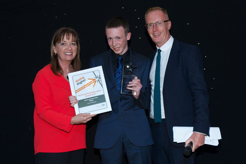 Council Chief Executive, Sandra Black_ Special Achievement Award, Colin McKenzie and BBC Scotland's Bryan Burnett