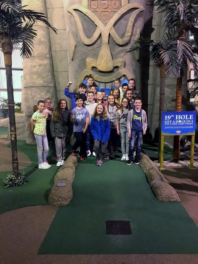 Our Lady of Peace Primary School at Paradise Island Adventure Golf Braehead