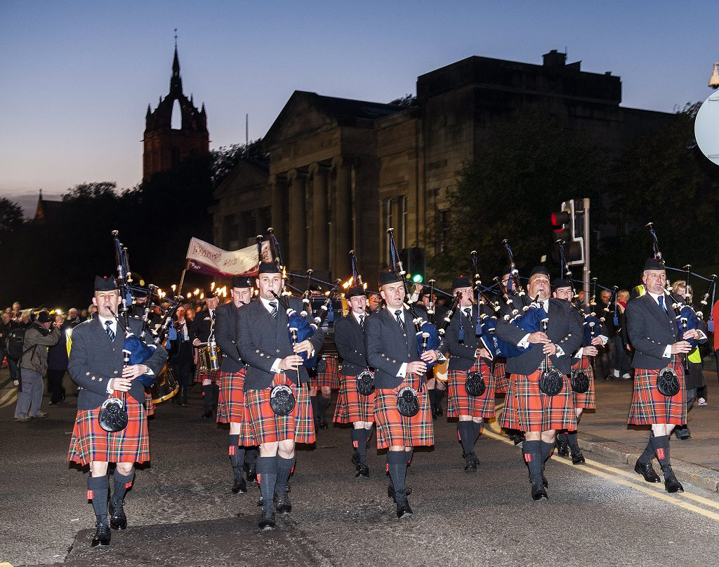 action from the parade when the Mod last came to Paisley in 2013
