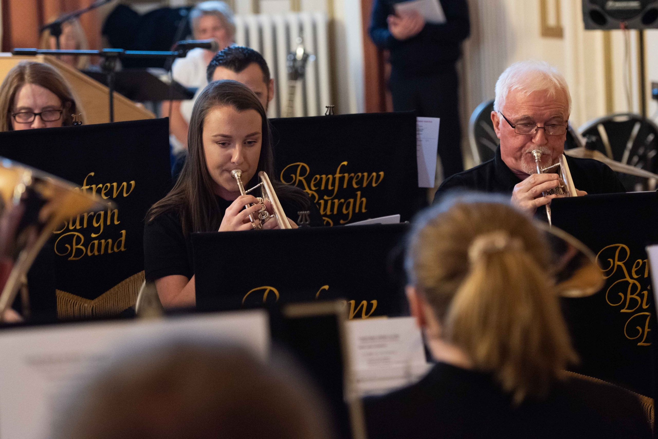 Renfrew Burgh Band played all the Christmas classics