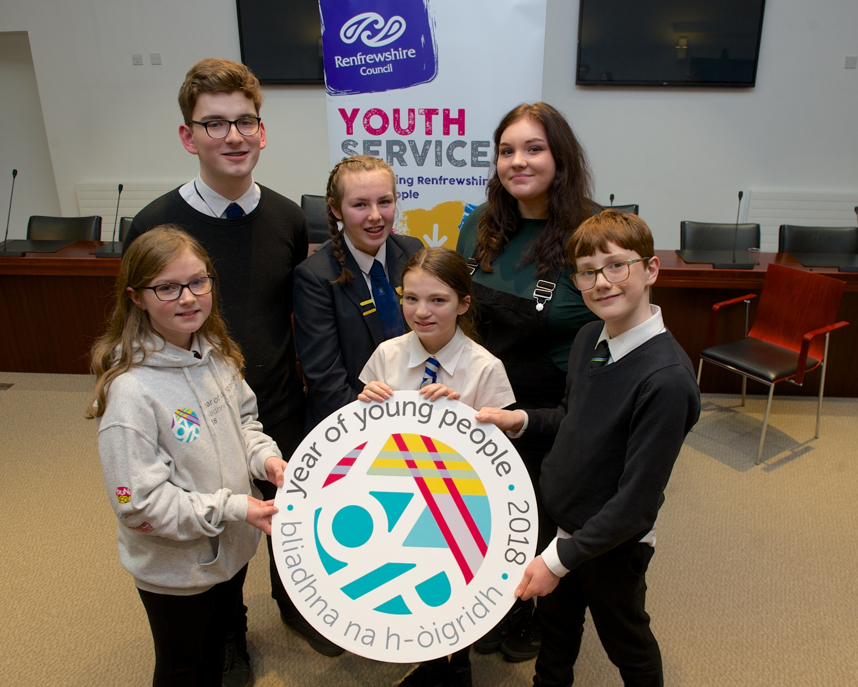 22 Jan 2018 - YOYP ambassadors - Youth ambassadors with logo - JCON