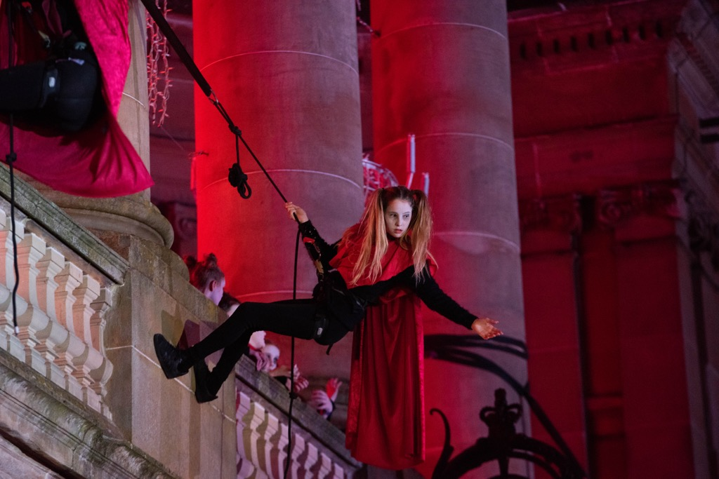 Halloween aerial performance 3