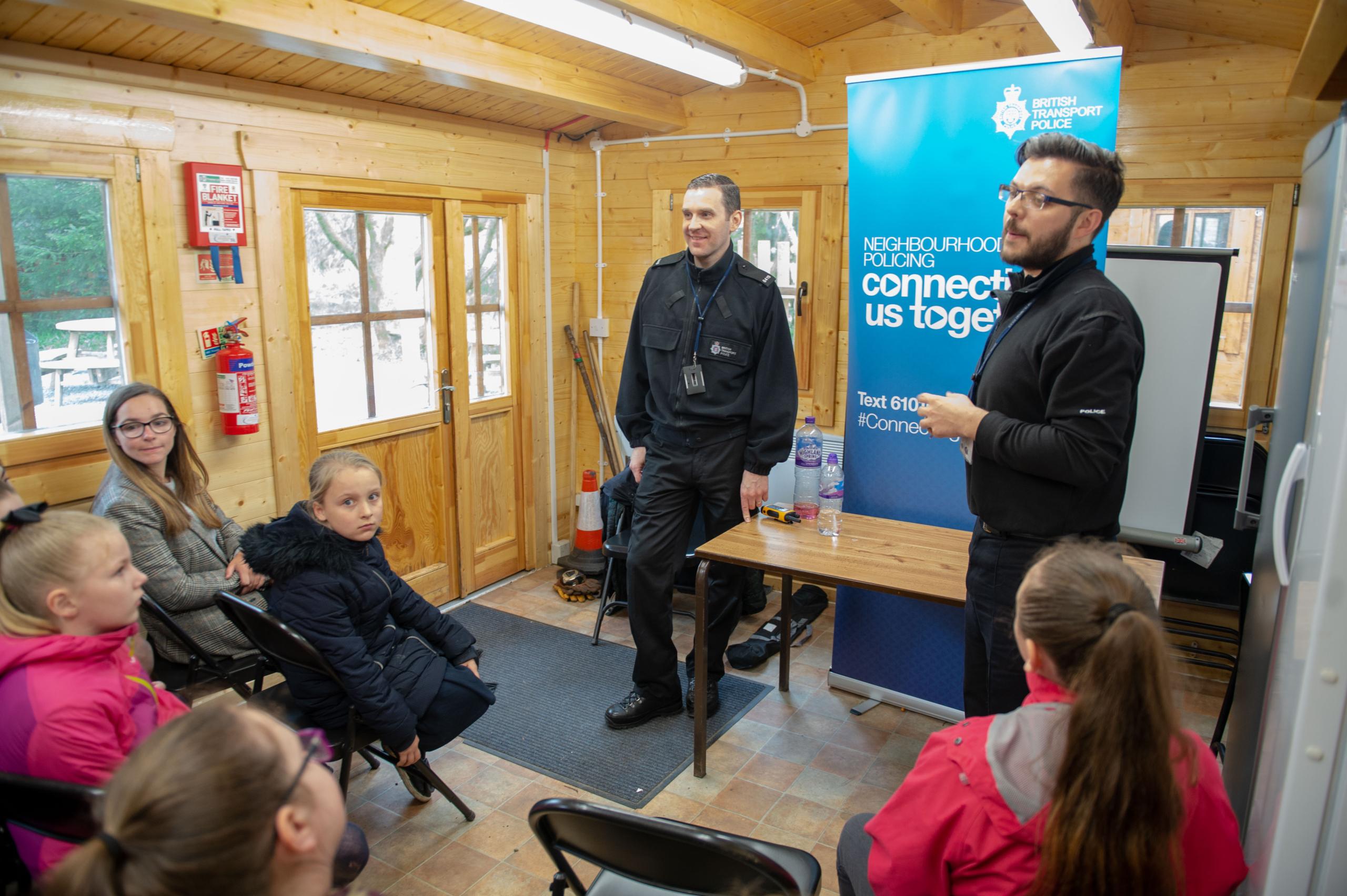 British Transport Police deliver their workshop
