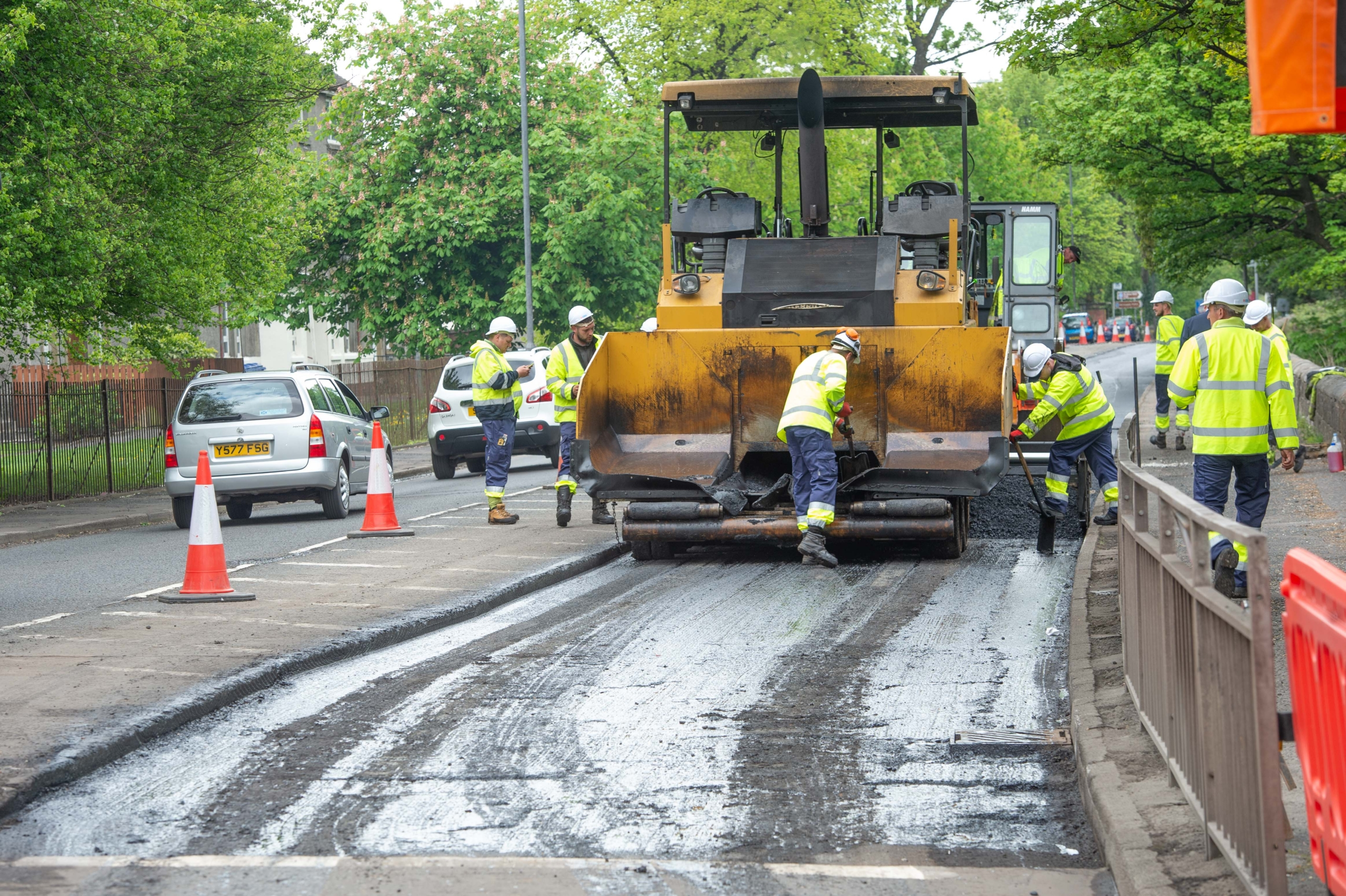 Works taking place at Inchinnan road (2)