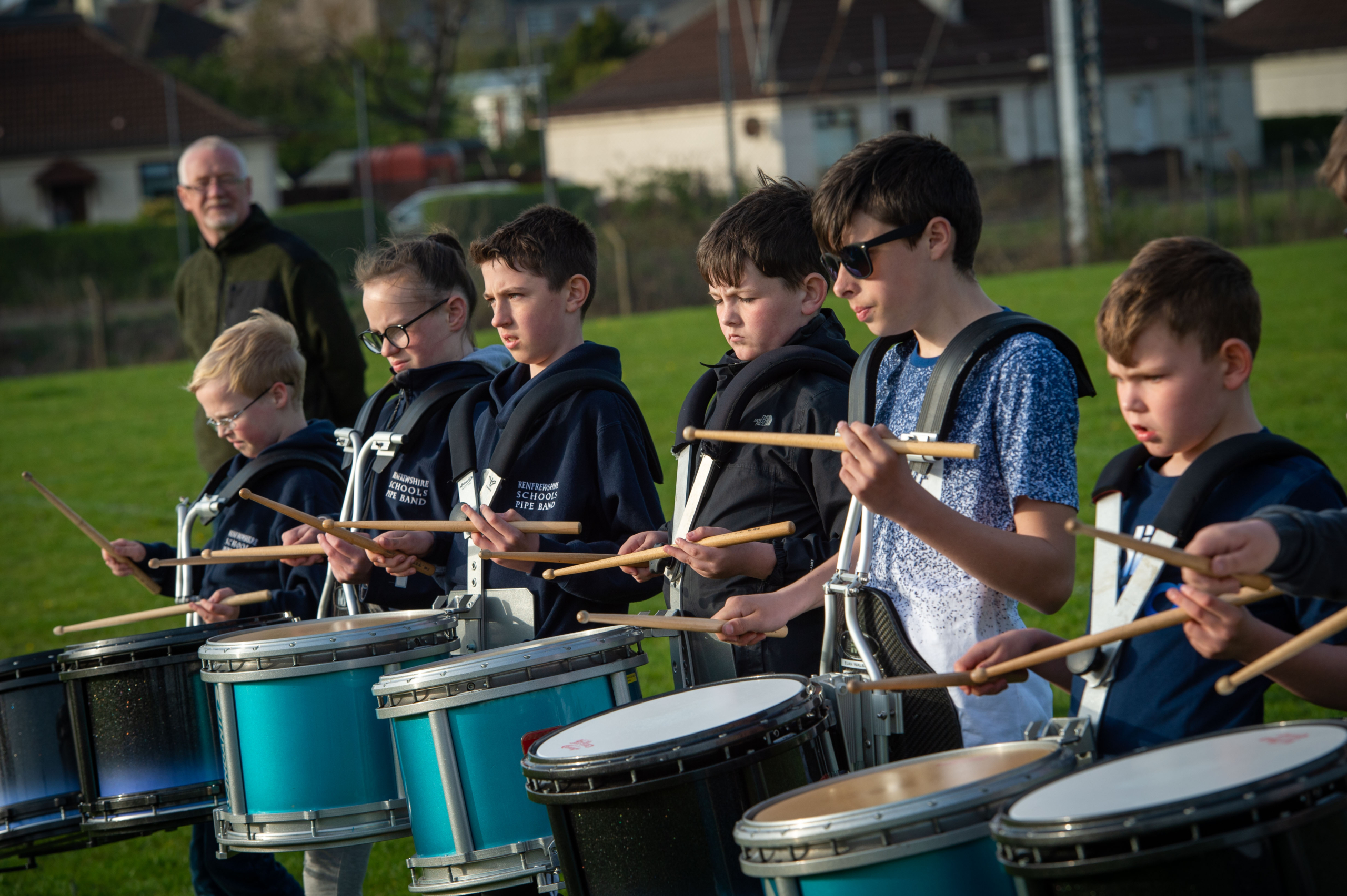 Renfrewshire Schoold Pipe Band practice 23.4.19-4585