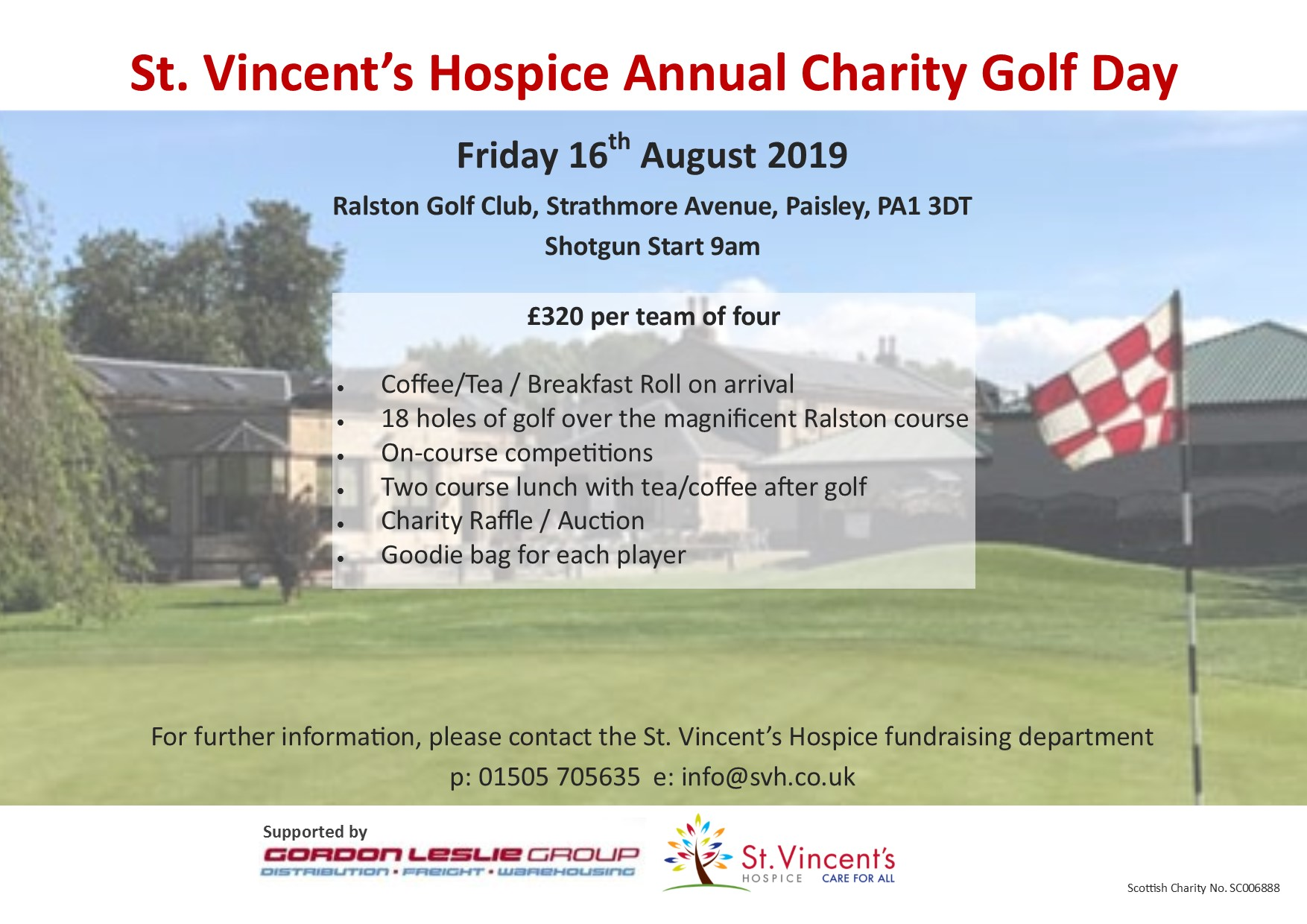St. Vincent's Hospice Golf Day