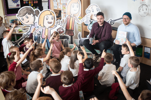 Author Ross McKenzie and illustrator Neil Slorance host a reading of The Clumps' Big Mess
