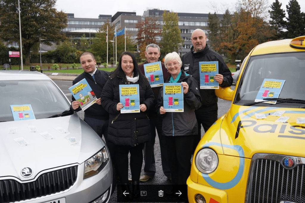 Cllr McEwan with Paisley Taxis and Renfrewshire Cabs (2)