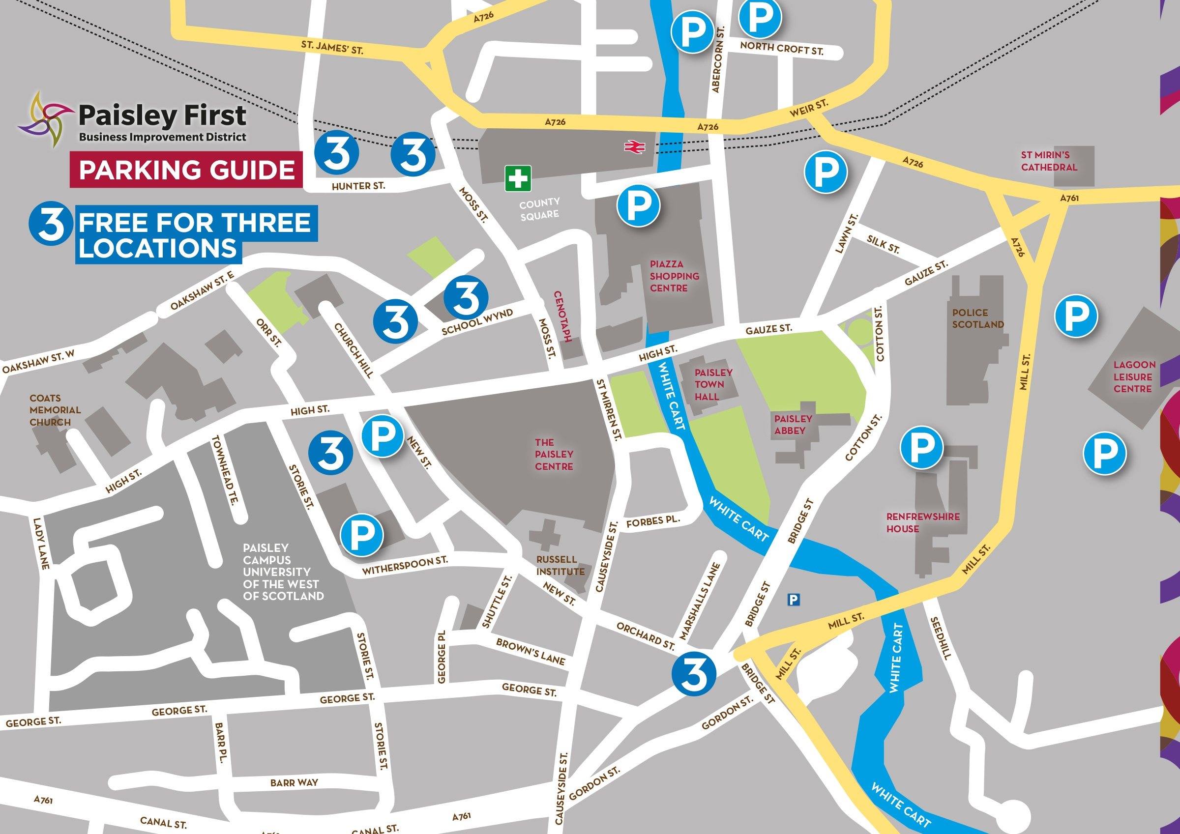 Paisley-First-parking-Map-28-10-19