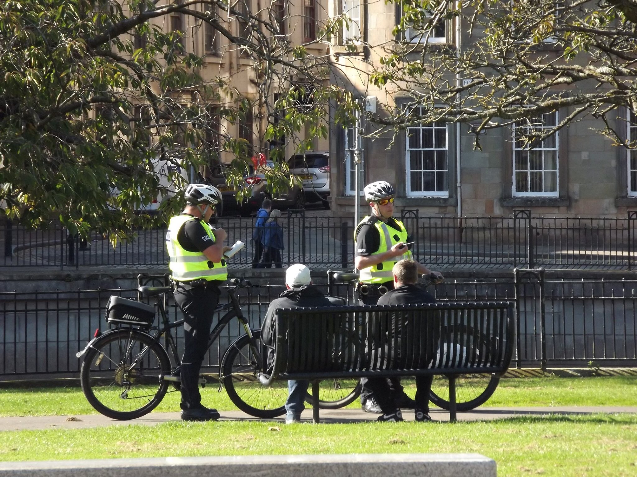 Police at Paisley Abbey