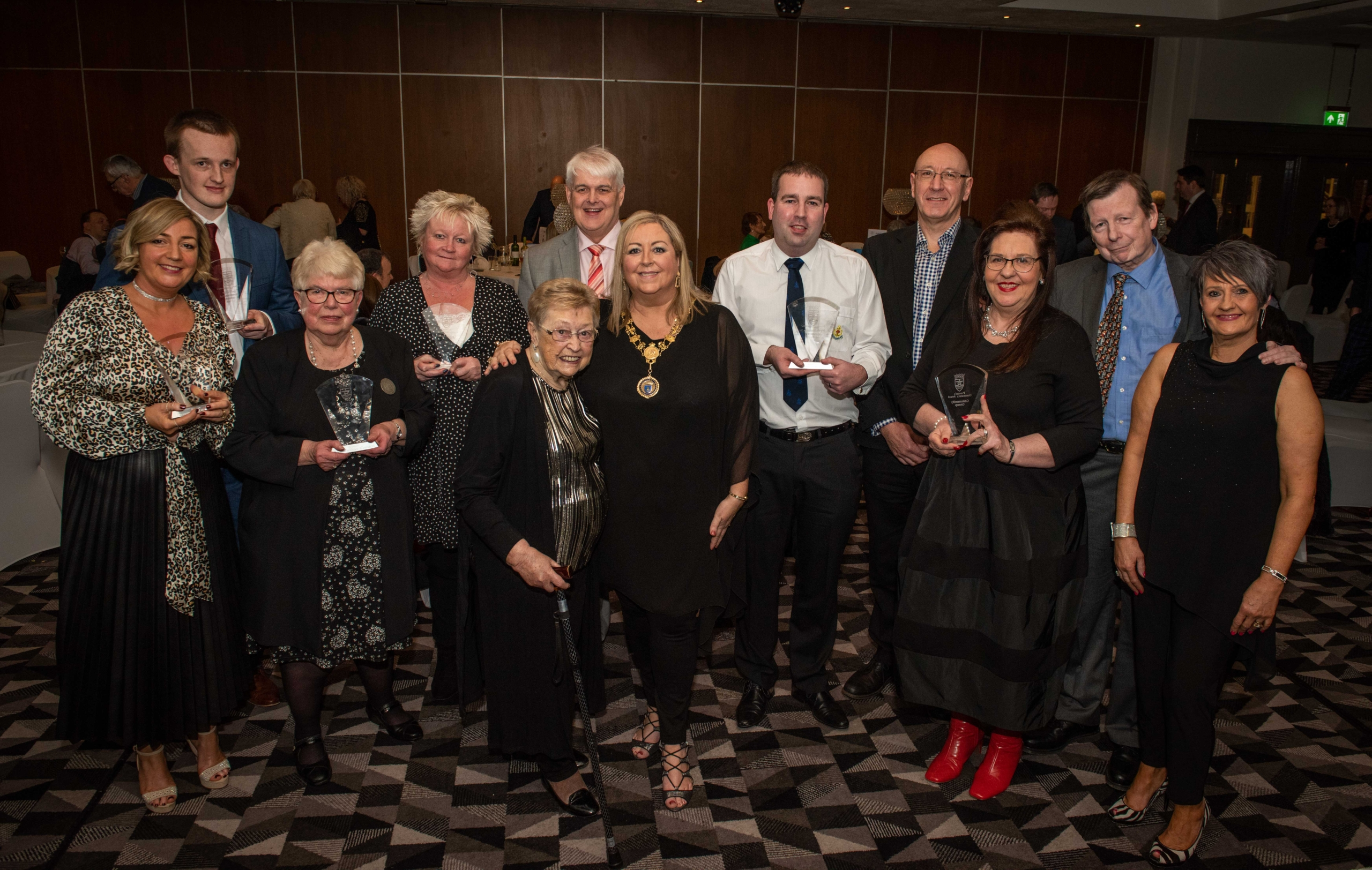 All winners with Provost Cameron and sponsors