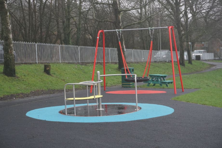 Howwood Park - swing and roundabout
