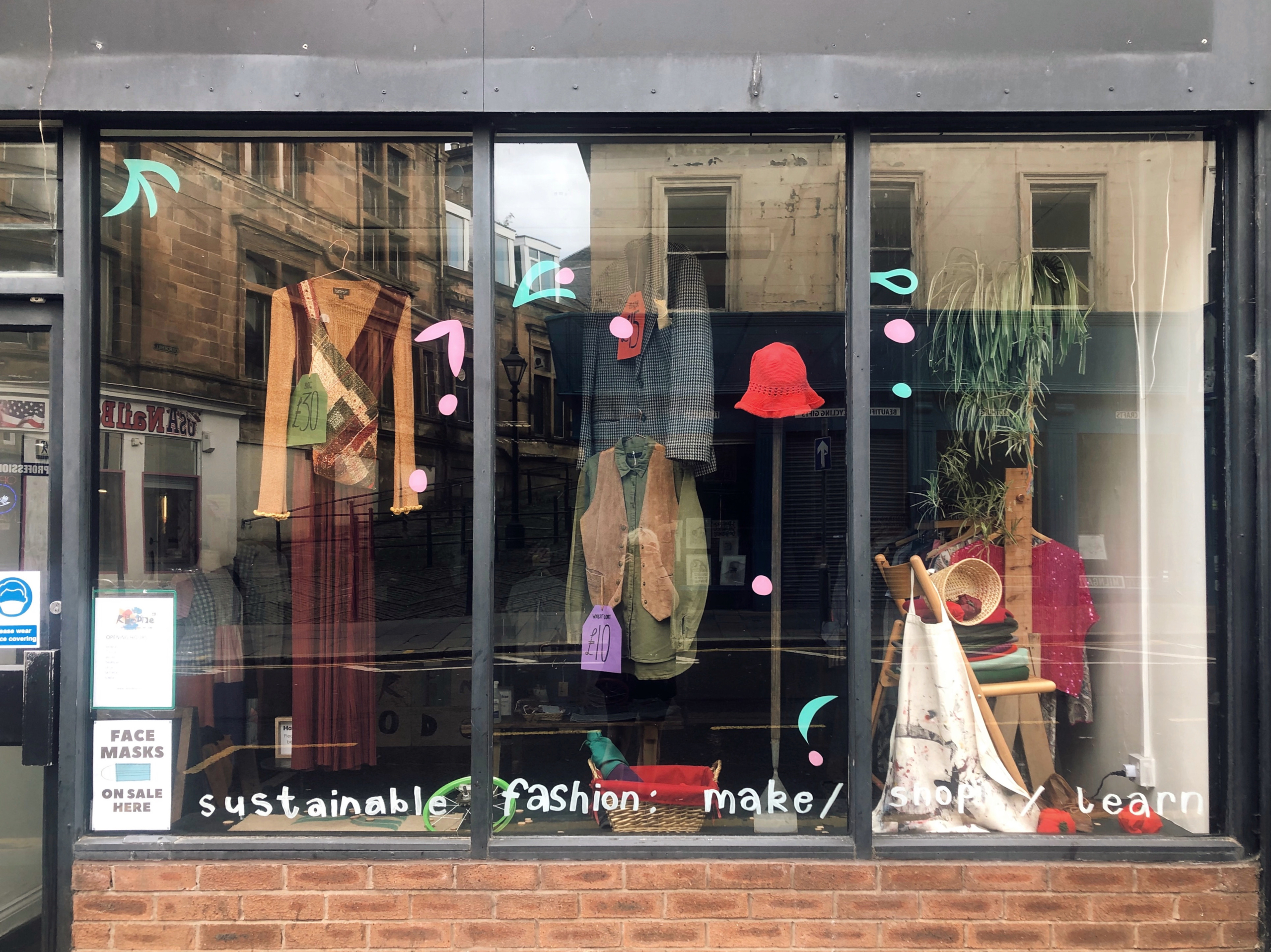 The September window display