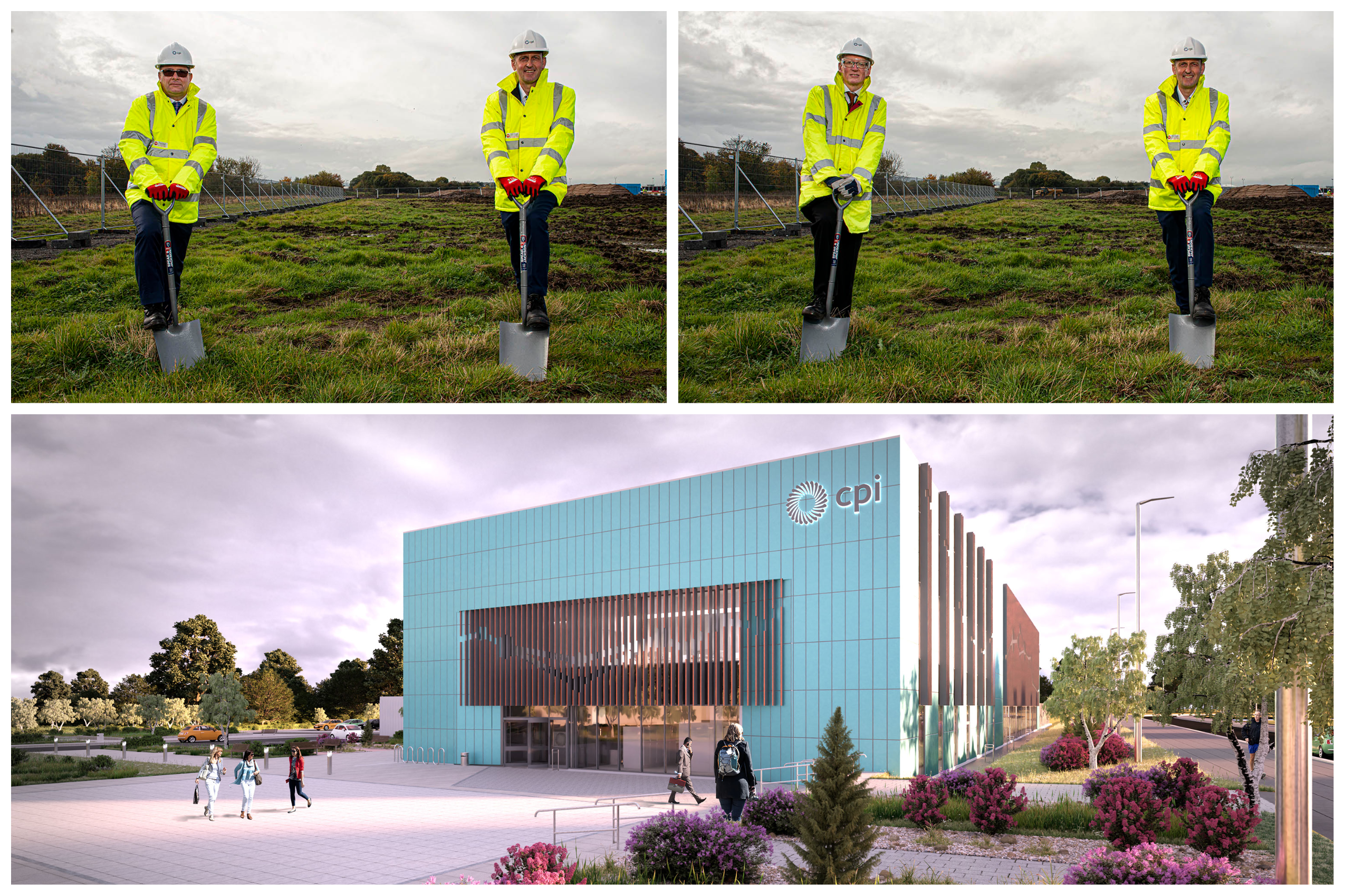 Medicines Manufacturing Innovation Centre Directors break ground at the new facility site