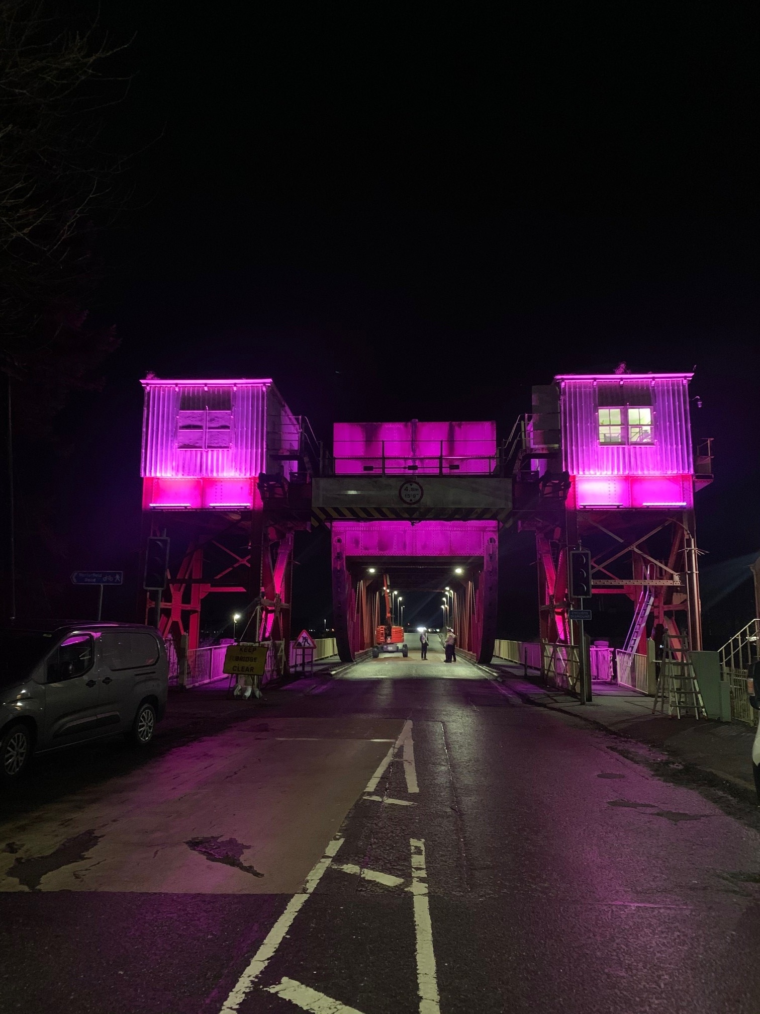 Bascule Bridge - Purple