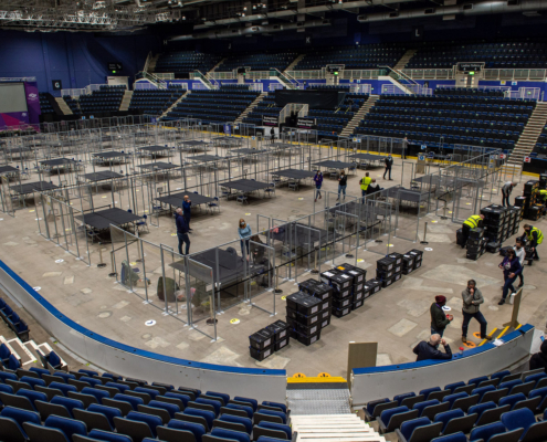 Renfrewshire Election Count 6.5.21 Ballot Paper Delivery-7383