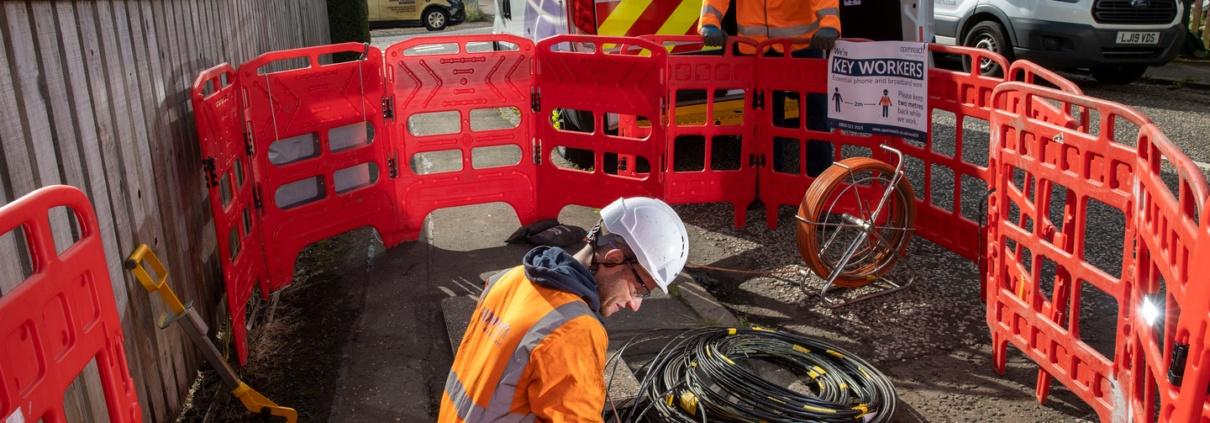 Full fibre underground build