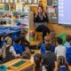 Emma McCrystal talking to P1 pupils at West Primary (3)