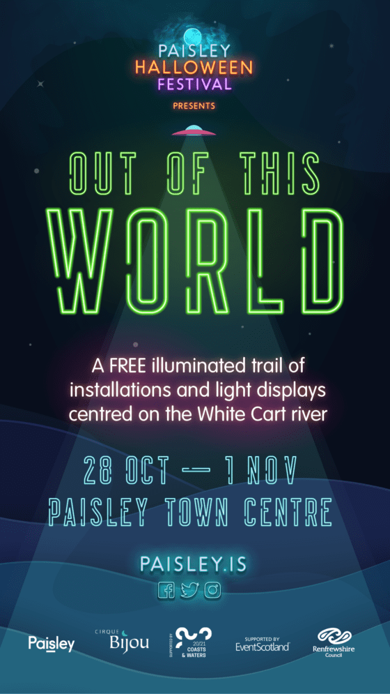 Paisley Halloween Festival presents Out of this World poster (1)
